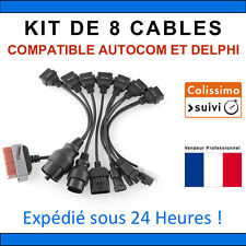 Lot de 8 Câbles additionnel pour Delphi CDP+ DS150e VALISE DIAGNOSTIQUE AUTOCOM