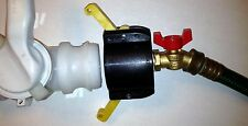 "275 330 GALLON IBC TOTE TANK ADAPTER  2"" Cam Lock x Garden Hose 1/4 Turn FAUCET"