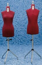Busto Espositore Busti Manichino Regolabile Sartoria Uomo o Donna Color Bordeaux