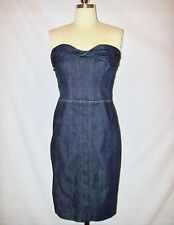 Adorable Betsey Johnson Strapless Denim Dress Sz.8