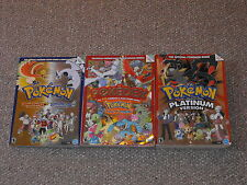 Pokemon Platinum Guide & HeartGold & SoulSilver Pokedex Johto & Kanto Book Lot