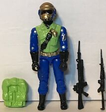 Black Major Cobra GI Joe CUSTOM Steel Brigade Figure gold Head(A)