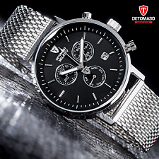 DETOMASO MILANO MENS CHRONOGRAPH MILANAISE WATCH SWISS ISA NEW RRP £179