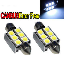2X Canbus No Error White 6SMD 36mm LED Festoon Bulb C5W 6418 License Plate Light