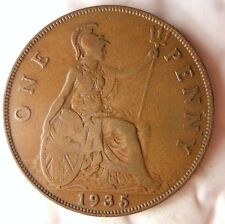 1935 GREAT BRITAIN PENNY - Excellent Vintage Coin - BARGAIN BIN #158