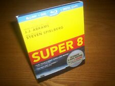 SUPER 8 new blu-ray US import 2-disc region a free rare OOP slipcase slipcover