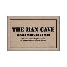 Man Cave Door Mat Private Area Sign Novelty Gift For Men Basement Garage Club