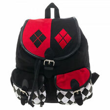 Harley Quinn Symbol Knapsack Backpack Batman Joker DC Comics Licensed  ~ New