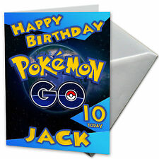 POKEMON GO Personalised Birthday Card! FREE 1st Class Shipping!