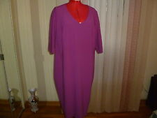 NWT Marina Rinaldi DIANA in Orchid Bloom Dress Elbow Sleeves V-neck size 33/24W.