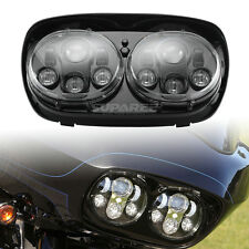 1Set Dual LED Headlight Assembly for Harley-Davidson Road Glide Hi/Lo Beam 90W