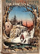 ANTIQUE SHEET MUSIC COVER - THE FROZEN STREAM QUADRILLES - M.T.SWATTON (c.1880)