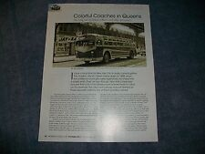 """History Info Article on Queens New York Jamaica Bus Lines """"Colorful Coaches..."""""""