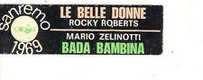 STICKER JUKE BOX - ROCKY ROBERTS - LE BELLE DONNE - MARIO ZELINOTTI - SANREMO 69