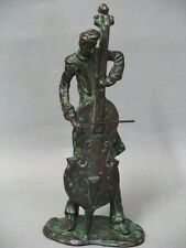 Bronze Jazz Musiker Cello Spieler Figur Figure Figurine um 1950