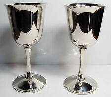 Vintage Valero Silverplate Goblets/Cups/Mugs Set of 2, Made In Spain
