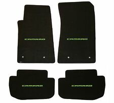 Lloyd Mats CLASSIC LOOP 4PC FLOOR MAT SET Green Camaro Logo on all 4 floor mats