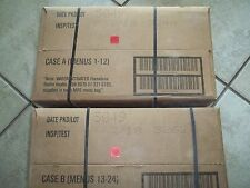 2 Cases A&B  02/18 Military Spec MRE's   For Hunting-Fishing-Camping-Prepping..