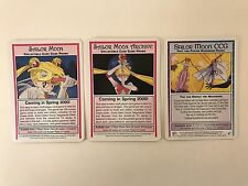 PROMO CARDS: SAILOR MOON CCG: 3 DIFFERENT w/ ARCHIVE, PAST AND FUTURE CCG, etc.