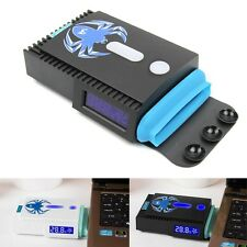 Mini LCD Vacuum Turbine USB Cooler Notebook Laptop PC Air Extracting Cooling Fan
