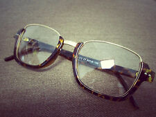 Tortoise Shell Oversized Wayfarer Geek Nerd Retro Vintage Fashion Glasses