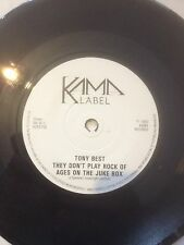 """TONY BEST 7"""" THEY DON'T PLAY ROCK OF AGES ON THE JUKE BOX OLD SCOTLAND AGAIN '83"""