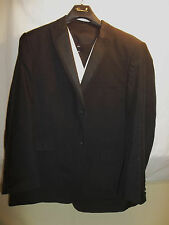 Falcone 3 Piece Polyester 2 Btn Mens Suit 50R Black Formal