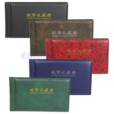 Paper Money Currency Banknote Collection Album Pocket Wallet for 30 Notes Pages