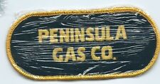 Peninsula Gas co employee/driver patch 2 X 4-1/2 cheesecloth back #712