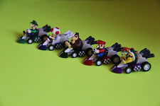 Super Mario Bros Mini Kart Pullback Figure Set of 6 , All the bests Small Size