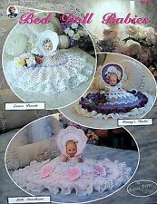 Crochet  Bed Doll Babies  Patterns  Annnie Potter Original