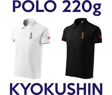 Polo shirt karate kyokushin embroidery kanji kanku. High quality. 4 colours