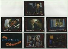 "A Very Supernatural Christmas ""Complete Set"" of 7 Base Cards (XM.1-XM.7)"