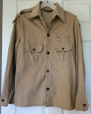 Vtg Levis For Men Beige Corduroy Shirt Jacket White Tab Medium Coat Ribbed 1970s