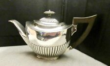 Queen Anne Style Sterling Silver Teapot by  Hamilton & Inches, Edinburgh c.1898