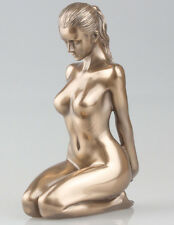 BRONZE FINISH NUDE WOMAN SCULPTURE NAKED FEMALE EROTIC ART STATUE NEW IN (75815)