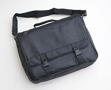 NEW SHOUDLER/LAPTOP BAG DELUXE BLACK LEATHER LOOK MODERN STYLING FREE UK POST