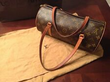 Authentic Louis Vuitton LV monogram canvas Papillon Barrel shoulder bag
