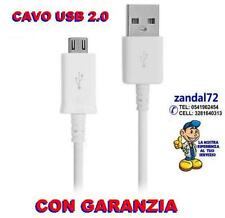 CABLE DE DATOS MICRO USB BLANCO X TABLET HUAWEY BLACKBERRY HP CÁMARA TOM TOM ZTE