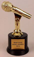RARE UNUSED PENN STATE MUSIC AWARDS 2014 PLASTIC MICROPHONE TROPHY AWARD