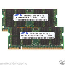 Samsung 2GB 2X 1GB DDR2 533Mhz PC2-4200 200pin SO-DIMM Laptop RAM Memory PC4200