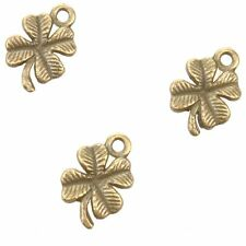 80pcs Antique Bronze Pretty Clover Charms Zinc Alloy Pendant Handmade J