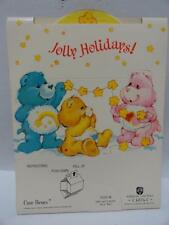 "VTG Care Bears 5""X7.5"" Christmas Cards w/ Envelope American Greetings Pop Up"