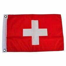"Switzerland 12"" X 18"" Polyester Flag with Grommets #124"