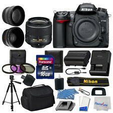 Nikon D7000 Digital SLR Camera 3 lens 18-55mm VR II +16GB +More Great Value Kit!