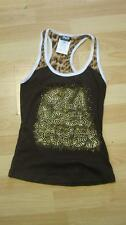 TEE-SHIRT TOP MARRON CHOCOLAT D&G ** TAILLE S