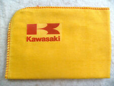 KAWASAKI MOTORCYCLE:NEW LARGE HIGH QUALITY CLEANING DUSTER CLOTH WITH LOGO DECAL