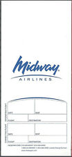 Midway Airlines white ticket jacket wallet [6122]
