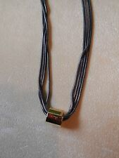 NEW DIESEL multistrand necklace w. gold barrel pendant & magnetic clasp