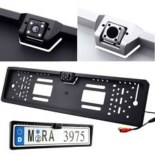 Waterproof 170°EU European Car License Plate Frame Rear View Camera Night Vision
